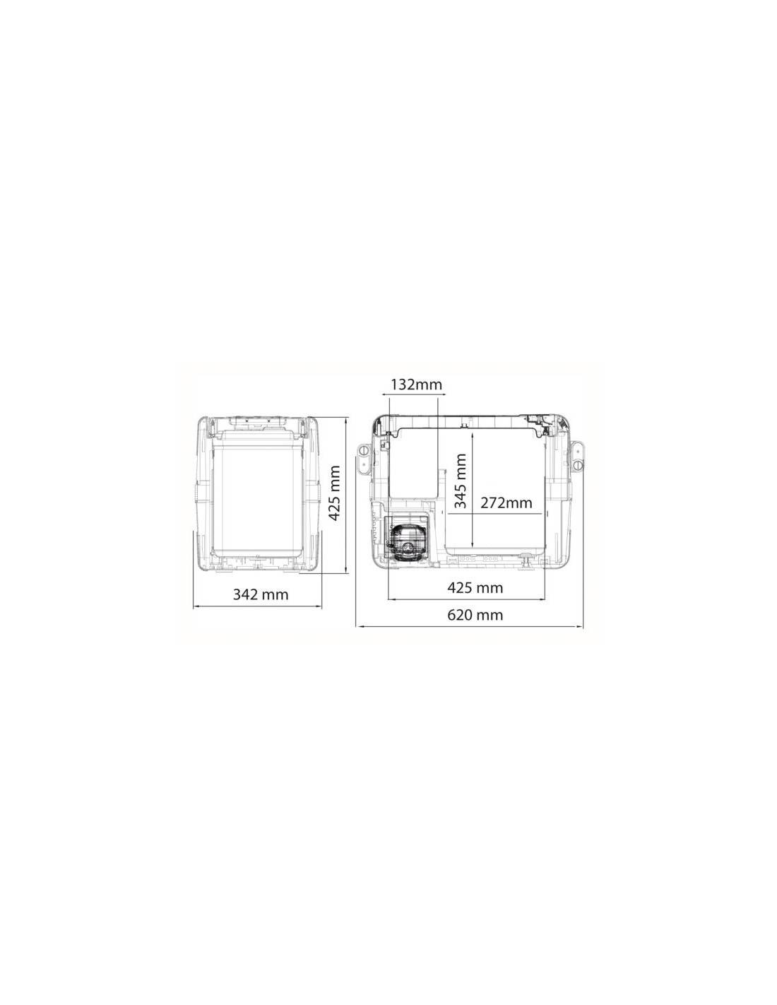 frigorifero portatile dometic coolfreeze cfx 28. Black Bedroom Furniture Sets. Home Design Ideas