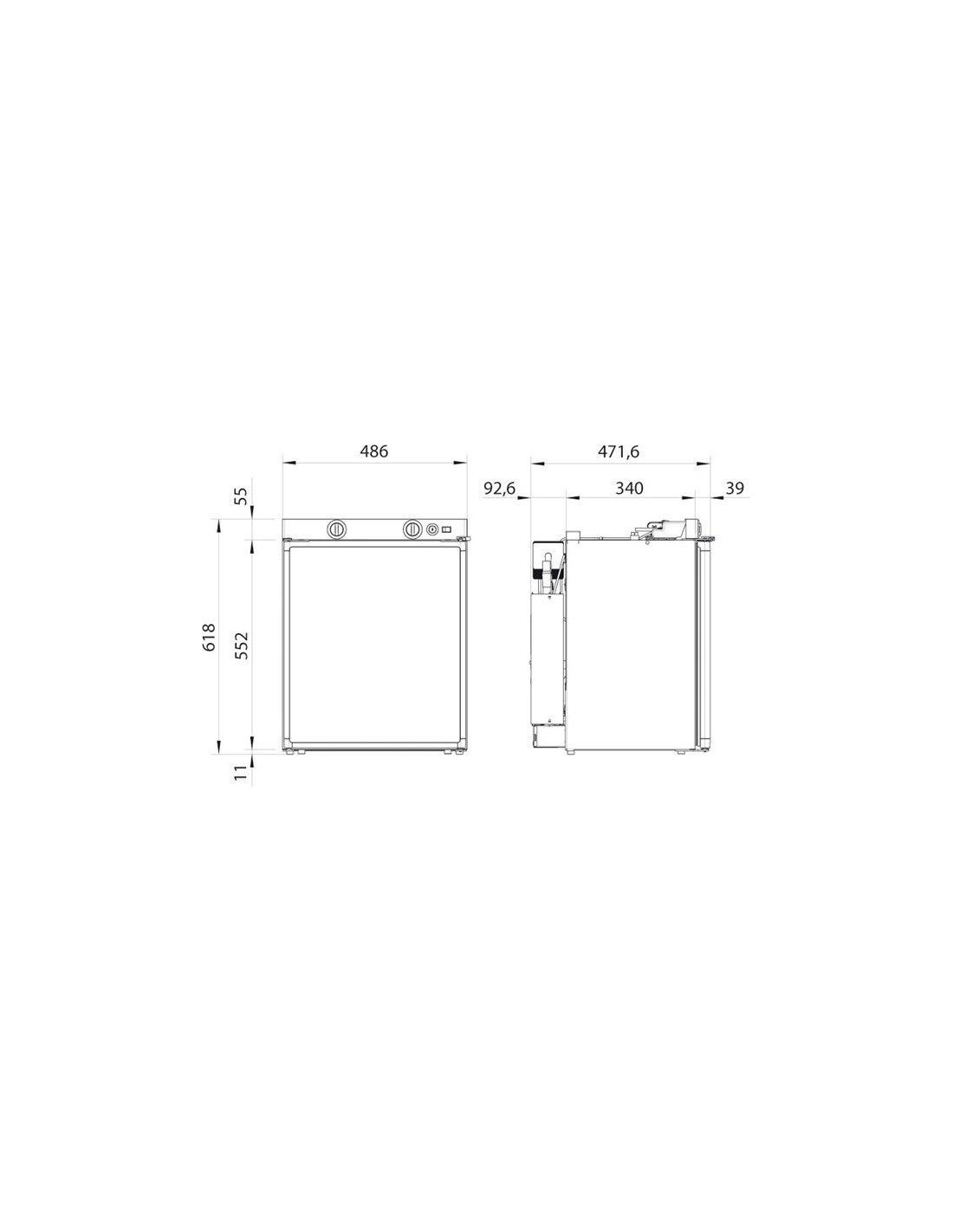 Frigorifero per camper rm 5310 dometic for Dimensioni frigorifero