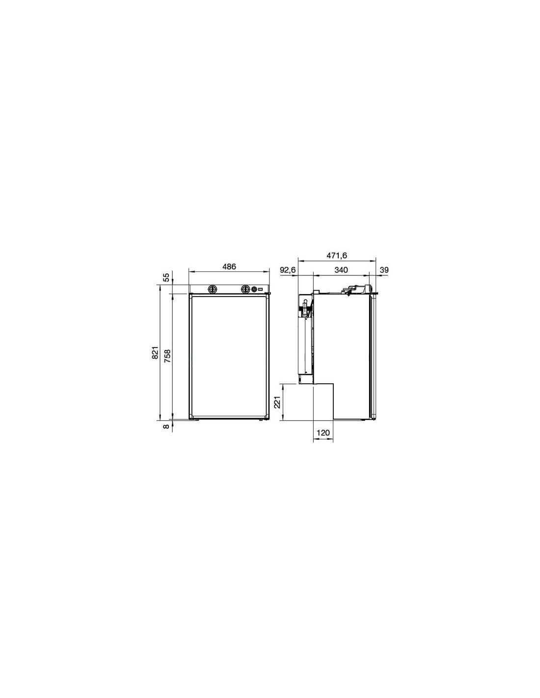 Frigorifero per camper rm 5330 dometic for Dimensioni frigorifero